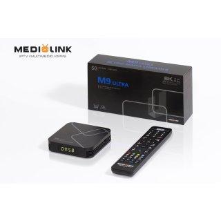 Medialink MÜ M9 IPTV BOX Ultra 4K 8K UHD Streamer Linux + Android 9.0