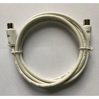 Antennenanschlusskabel AK 0150 Buchse/Stecker Weiss