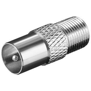goobay 67318 F-Adapter: F-Buchse > Koax-Stecker - Kupfer