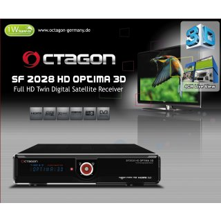 OCTAGON SF 2028 Twin HD 3D Optima  (DVB-S2&DVB-T2/C)