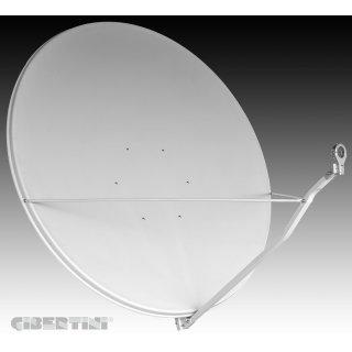 Gibertini Satellitten Antenne OP150S EZ ALU 150 cm Lichtgrau