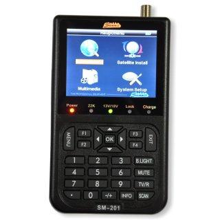 """SUMMIT SM 201HD Messgerät für DVB-S/S2 mit 3, 5"""" TFT LC Display Satfinder"""