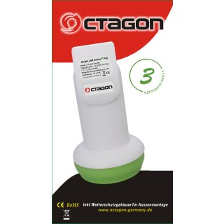 Octagon Single LNB GREEN HG