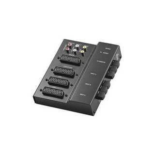 Umschaltbox AVS 1 M Metall schwarz
