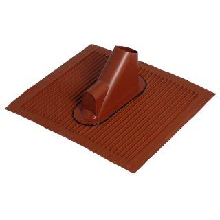 Alu Dachziegel mit Kabeldurchführung 40350 rot