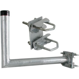 Balkonhalter L mit Zahnschelle BHL 25Alu