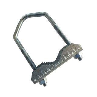 Zahn-Mastschelle / Bügelschelle bis 60mm 100mm lang