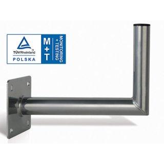 Premium Wandhalter Stahl Verzinkt 50cm  Ø50mm TÜV Zertifiziert