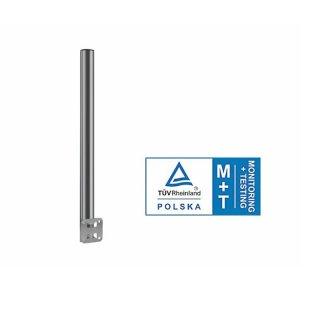 Mast für Geländer Stahl Verzinkt 60cm lang Ø50mm TÜV Zertifiziert