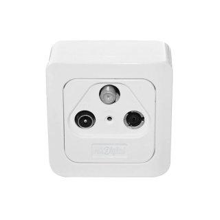 MK-Digital SD-300D Sat BK Durchgangdose 3-fach Aufputz + Unterputz