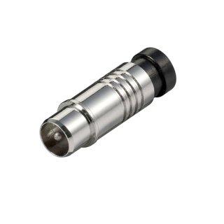 Koaxial Kompressions Stecker, für Kabel Aussen-D 7,0 mm