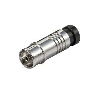 Koaxial Kompressions Kupplung, für Kabel Aussen-D 7,0 mm