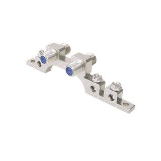Erdungsblock / Schine 2-fach F-Technik