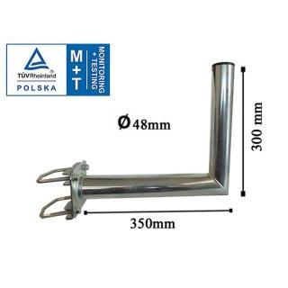 Wandhalter mit Zahnschelle Ø48mm 350 mm lang  TÜV Zertifiziert