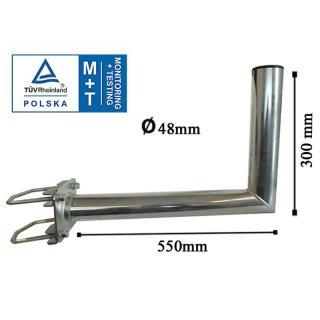 Wandhalter mit Zahnschelle 48mm 550 mm lang TÜV Zertifiziert