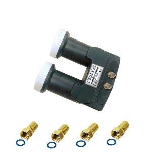 HD Line Monoblock(Astra+Hotbird) Twin Lnb 0,1dB,60dB Gewinn