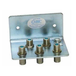 Erdungswinkel für 5 HF Kabel, mit F-Anschlüssen