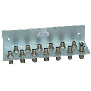 Erdungswinkel für 13 HF Kabel, mit F-Anschlüssen