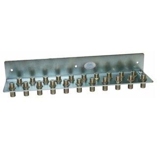 Erdungswinkel für 21 HF Kabel, mit F-Anschlüssen