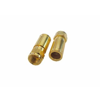 Kompressionstecker Gold für Kabel-D 6,8-7,20mm Vollmetall