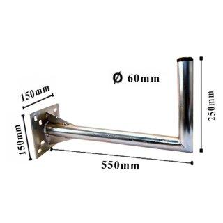 MK Digital Premium Wandhalter Stahl Verzinkt 55cm  Ø60mm
