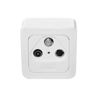 4X MK-Digital SD-300D Sat BK Durchgangdose 3-fach Aufputz + Unterputz Full HD 4K UHD