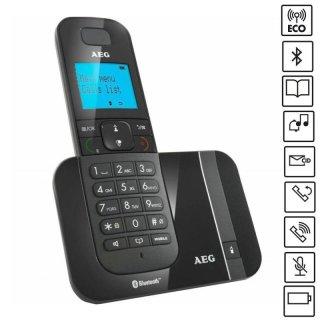 AEG Voxtel D550BT DECT-Telefon mit Hintergrundbeleuchtet Display,Bluetooth, Freisprechen,Schwarz