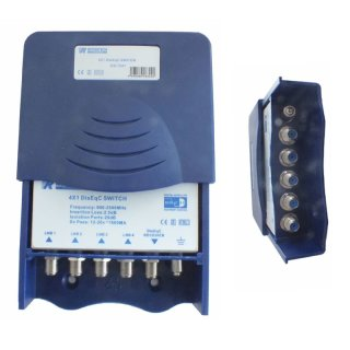 Rogetech 4-1 DiseqC Schalter mit Erdungs Eingang