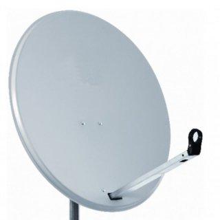 MK Digital Klick System Sat-Antenne 80 cm Stahl in Hellgrau