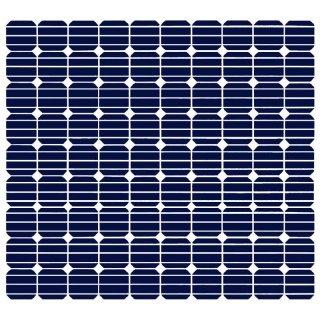 Aufkleber Sticker für SelfSat Flachantenne HD50 Serie mit Solar Panel Motiv