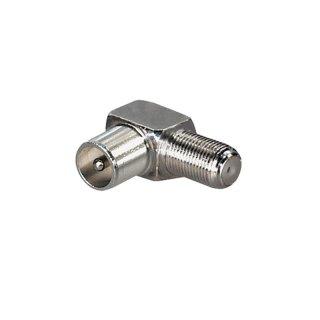 F-Kupplung auf Koax-Stecker 90° Winkel