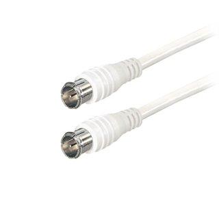 SAT-Anschlusskabel Quick F-Stecker gerade - Quick F-Stecker gerade, 1m