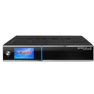 GigaBlue UHD UE 4K Receiver 2x DVB-S2 FBC Tuner 1TB Festplatte