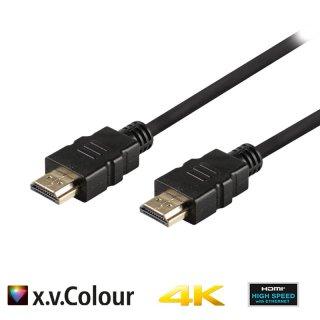 Valueline High Speed HDMI Kabel mit Ethernet HDMI Anschluss 3.00 m Schwarz