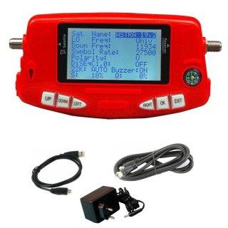 Digital Satelliten-finder HD-LINE SF-650 Messgerät mit Akku - Ideal für Camping